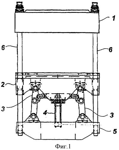 Фиксирующая пресс-форму поперечина формовочного пресса и пресс, содержащий указанную поперечину