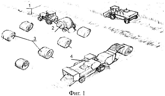 Способ раздельной уборки зерновых культур с обмолотом хлебной массы из рулонов и пресс-подборщик для его реализации