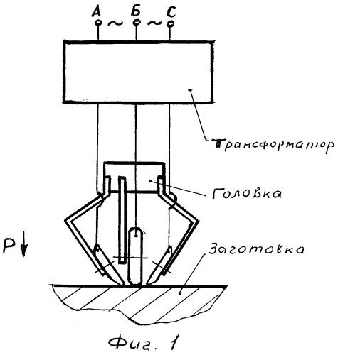 Многоинструментальная головка для электромеханической обработки плоских поверхностей на станках