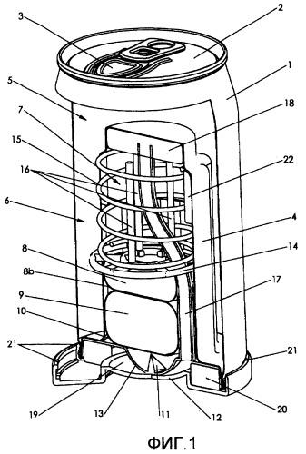 Термостатическое регулирование температуры для саморазогревающихся контейнеров