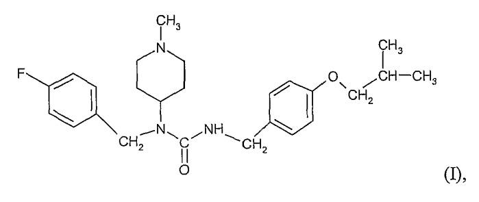 Соли n-(4-фторбензил)-n-(1-метилпиперидин-4-ил)-n`-(2-метилпропилокси)фенилметил)карбамида и их приготовление
