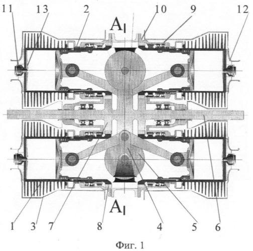 Система воздушного охлаждения двухтактного турбодизеля