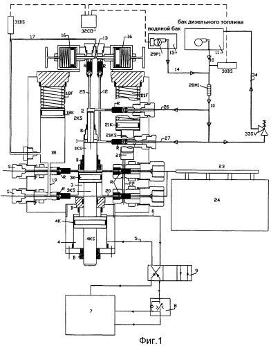 Устройство для приготовления микроэмульсии дизельного топлива/воды и для впрыскивания этой эмульсии в дизельный двигатель