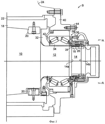 Гидростатический подшипник для валков прокатного стана