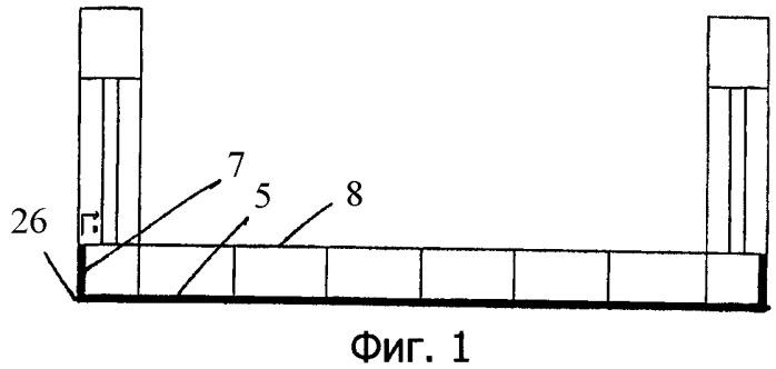 Плавучая конструкция, состоящая из ряда собранных плавучих элементов, и способ сборки плавучей конструкции