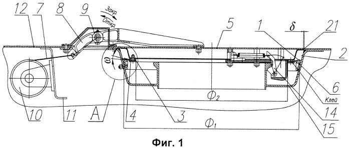 Уплотнительное устройство самозакрывающихся крышек люков летательных аппаратов