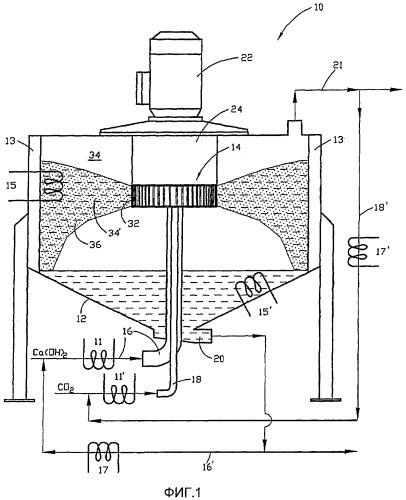 Способ и устройство для производства продукта, содержащего карбонат кальция, данный продукт и его применение