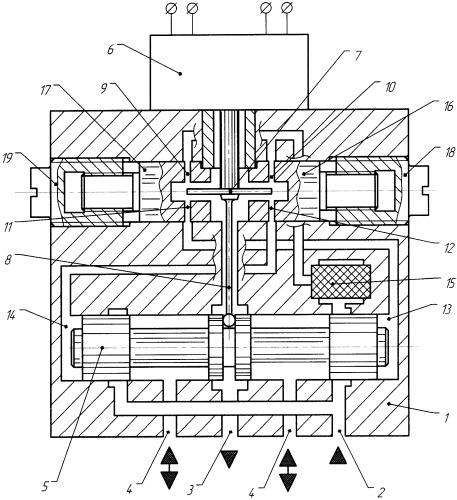 Электрогидравлический усилитель мощности с механической обратной связью по положению золотника