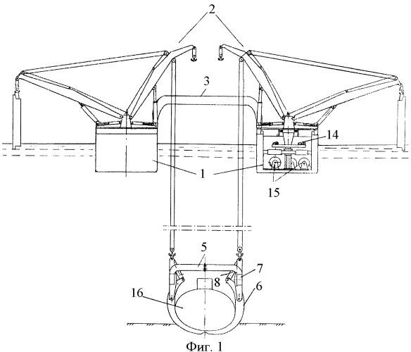 Комплекс для подъема и транспортирования затонувших подводных лодок и других судов