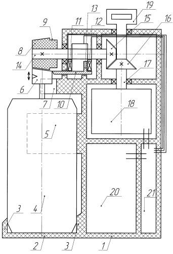 Автономное устройство для рассеивания аэрозоля баллончика в закрытом помещении