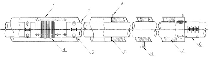 Герметичная проходка трубопровода (варианты)