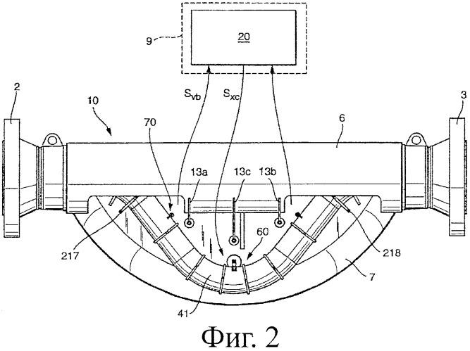 Встроенный измерительный прибор с измерительным датчиком вибрационного типа