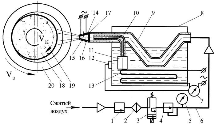 Устройство для подачи твердого смазочного материала на шлифовальный круг