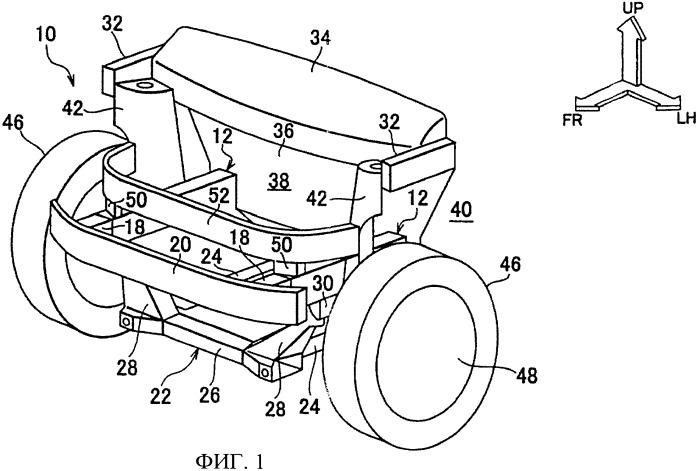 Конструкция передней части транспортного средства