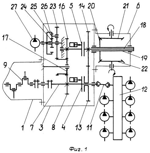 Силовой блок самоходного парома и устройство для его крепления