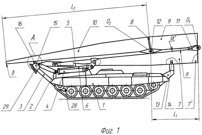 Мостоукладчик на базовом танковом шасси