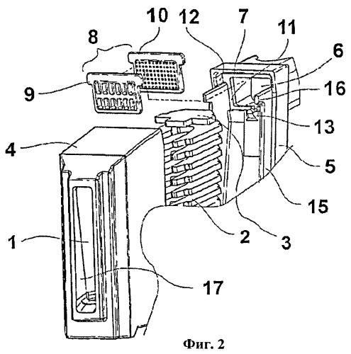 Дугогасительная камера для автоматического выключателя, имеющая вытяжной канал для дугового газа