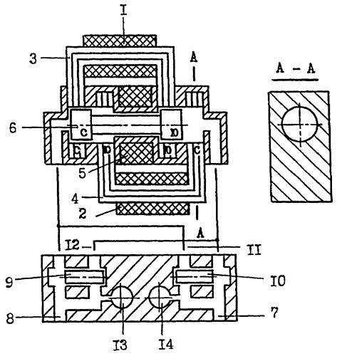 Стационарная катушка подмагничивания якоря линейной электрической машины