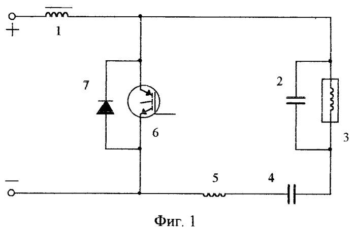 Способ управления несимметричным одноключевым согласованным инвертором с закрытым входом и резонансной коммутацией