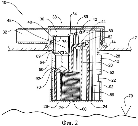Клапан топливного бака, имеющий двойную функцию