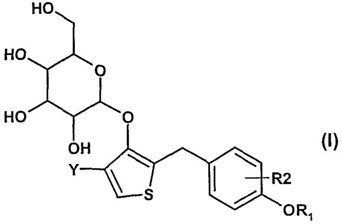 Способ получения тиофенгликозидных производных