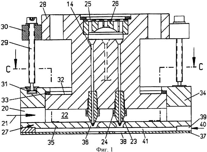 Формовочное устройство для получения тонких нитей путем расщепления