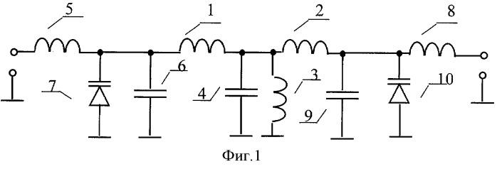 Полосовой lc-фильтр с