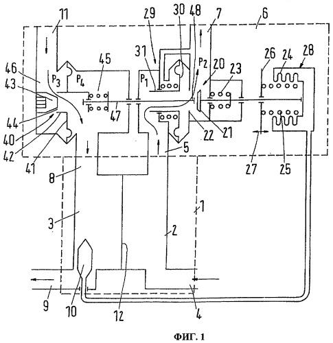 Клапанное устройство для подключения к теплофикационной сети теплообменника водозаборного устройства