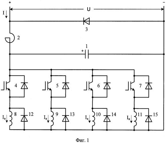 Способ и устройство управления током в обмотках возбуждения электрических машин