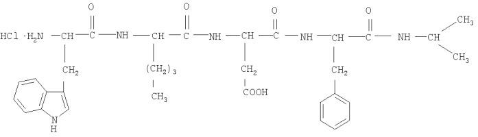 Хлоргидрат тетрапептида trp-nle-asp-phe-nh-ch(ch3)2, подавляющий патологическое влечение к морфину