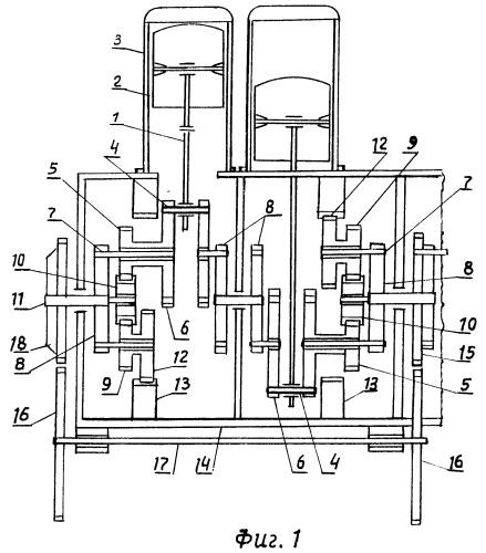 Бесшатунный планетарно-кривошипный преобразователь вращения для двигателей (вариант 3-й)