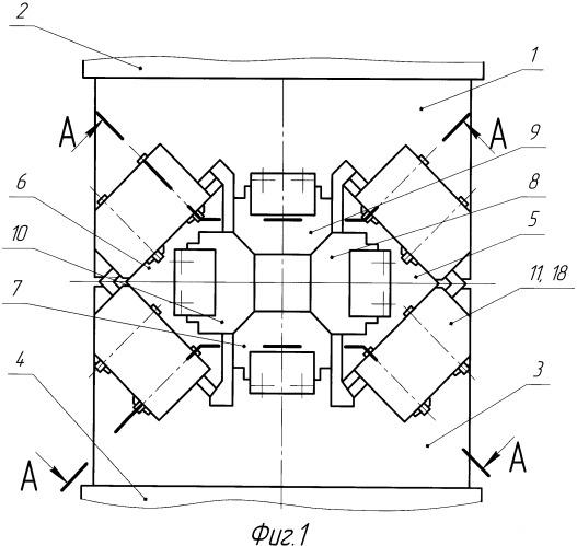 Четырехбойковое ковочное устройство