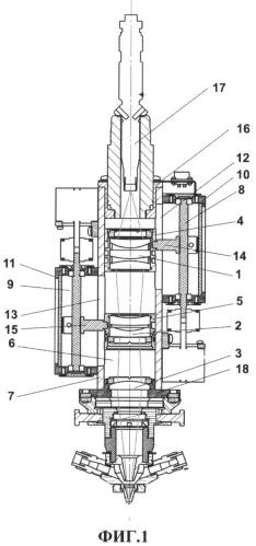 Устройство для фокусировки излучения волоконного лазера