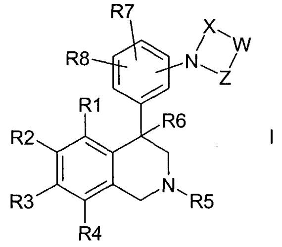 Замещенные 4-фенилтетрагидроизохинолины, способ их получения, их применение в качестве лекарственных средств, а также содержащие их лекарственные средства