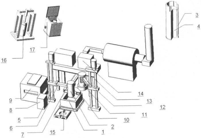 Установка для получения ферротитана путем электродугового плавления титансодержащего материала под слоем защитного флюса