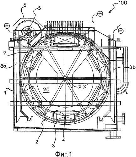 Установка для обработки поверхностей металлических деталей, в частности, электролизом