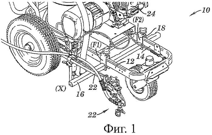 Краскораспылитель, устанавливаемый на машинку для нанесения разделительных полос на дорожное полотно