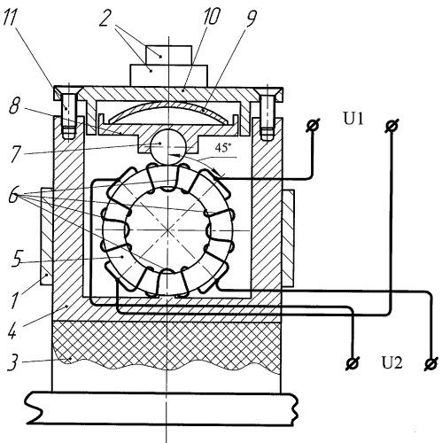Устройство для измерения давления щетки на коллектор электрических машин