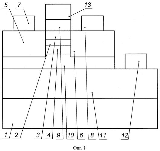 Интегральный инжекционный лазер с управляемой передислокацией максимума амплитуды волновых функций носителей заряда