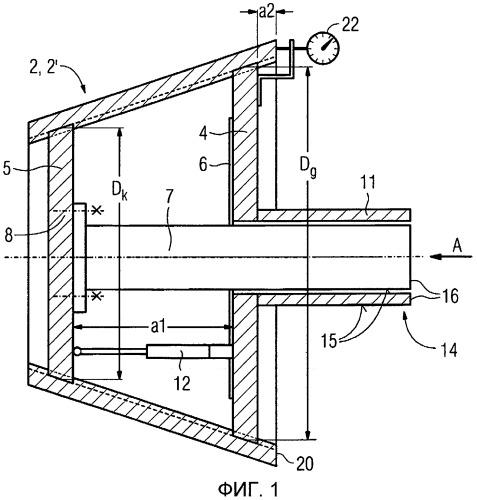 Устройство и способ измерения по меньшей мере одной конической резьбы