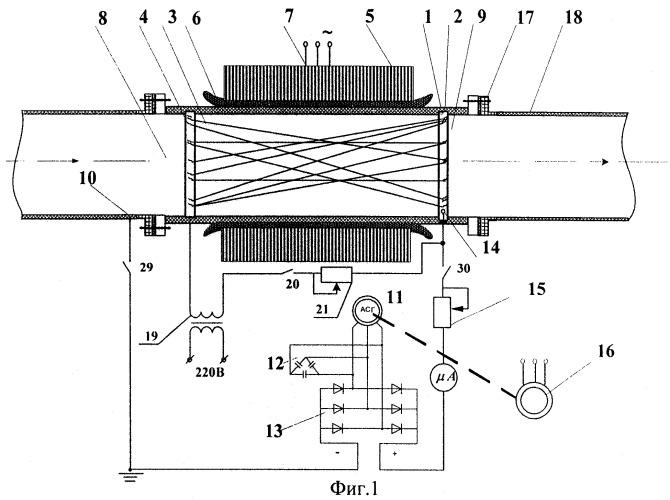 Устройство для отвода зарядов из потока углеводородов