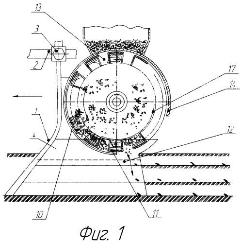 Сошник для очагового многоуровневого внесения минеральных удобрений