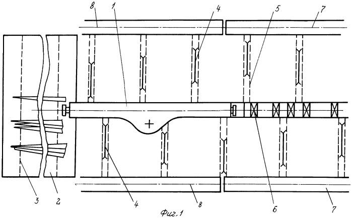 Механизированная система для раскроя древесных стволов /варианты/