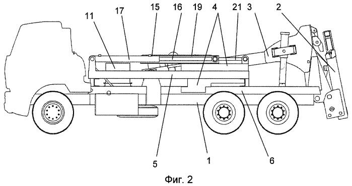 Автоэвакуатор с частичной погрузкой и подвижным балластным грузом