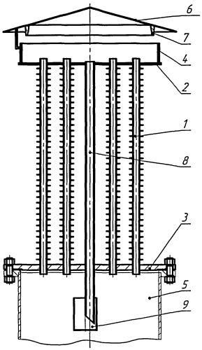 Конденсационное устройство резервуара для хранения нефтепродуктов