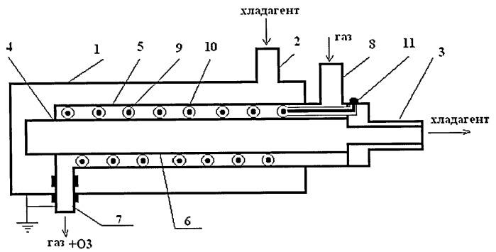 Газоразрядное устройство для синтеза озона