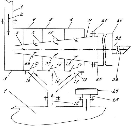 Устройство открытой системы вентиляции картера двигателя внутреннего сгорания
