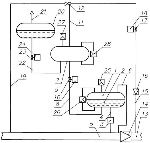 Эжекторное устройство для заправки расходной емкости одоризатора газа