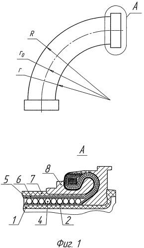 Угловой армированный рукав-компенсатор
