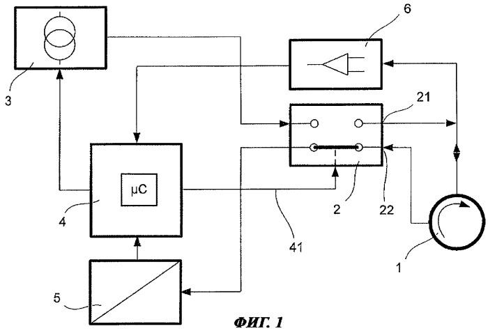 Способ и устройство для измерения рабочей температуры приводного двигателя